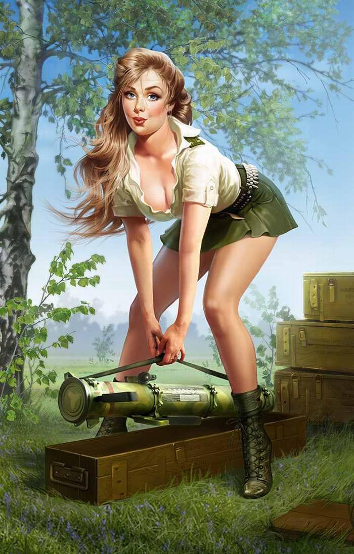 Сексулные девушки в военных формах