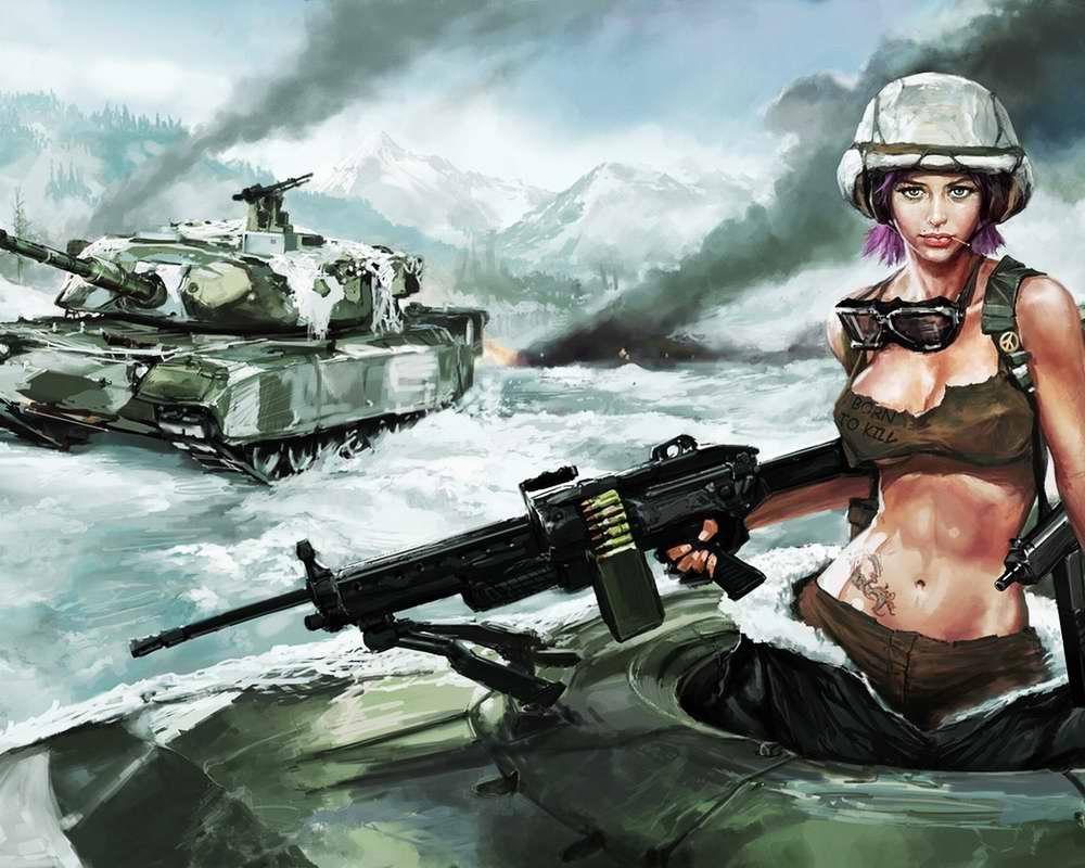 Девушки в военной форме - sibnarkomat