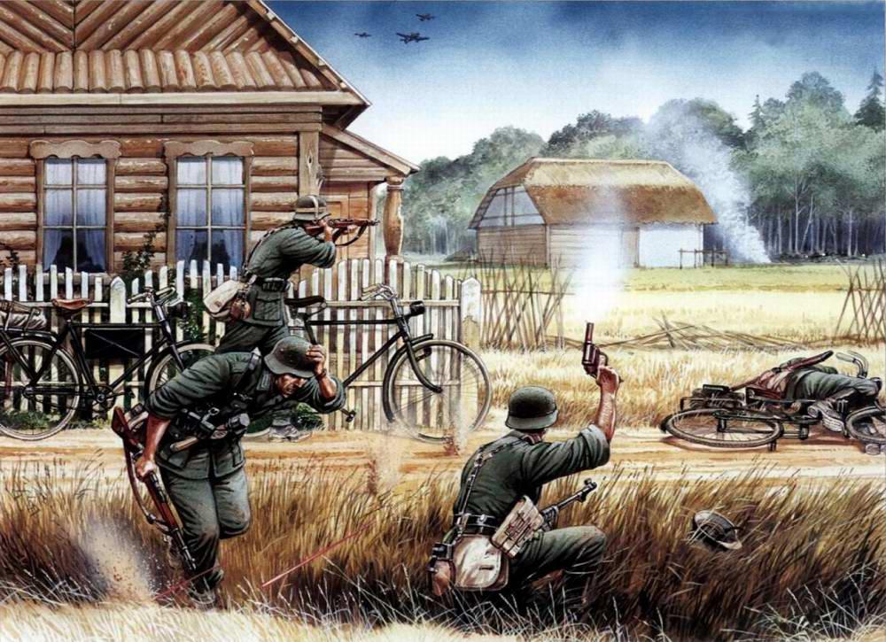 Немецкие корректировщики огня