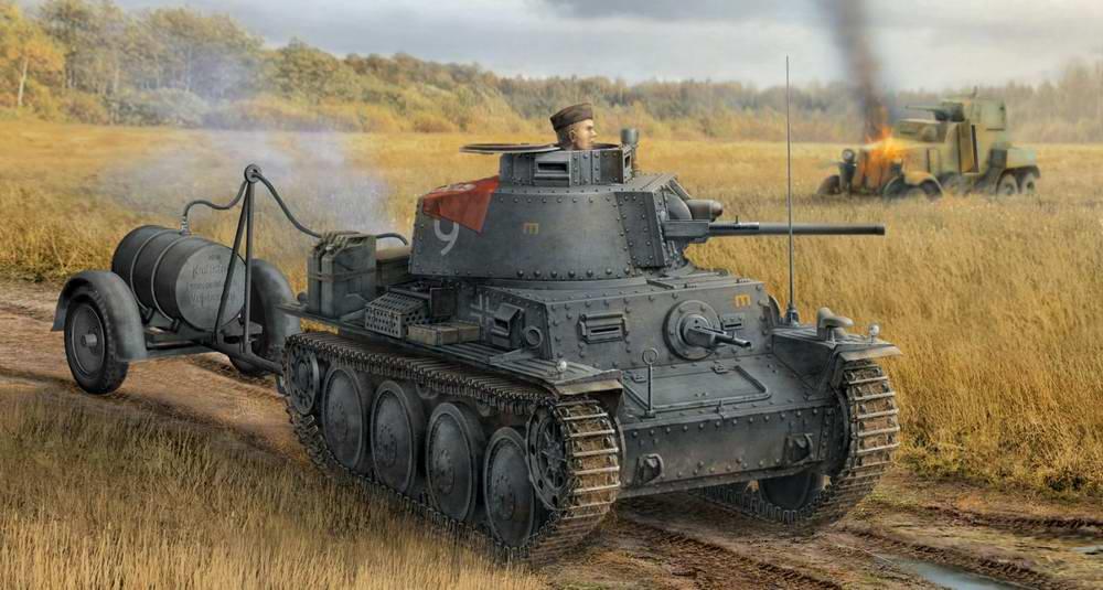 Немецкий огнеметный танк: картина после боя