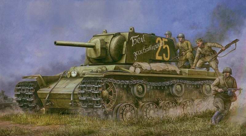 Советский танк КВ-1 - 1941 год  (Vincent Wai)