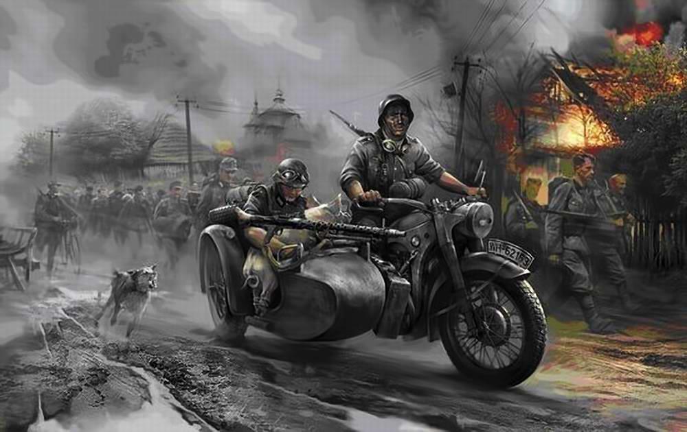 Вермахт марширует по России