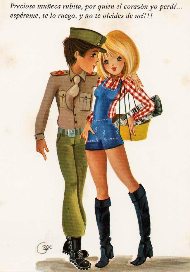 Бро, девочка и солдат открытки