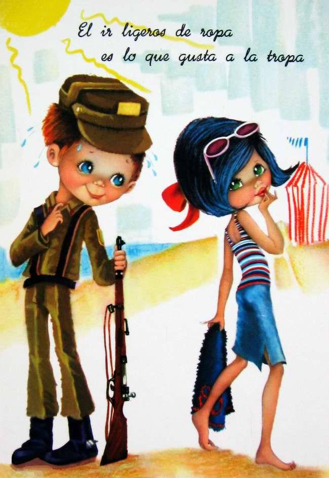 Девушки по улицам ходят слегка одетыми. Ох, как нелегко от этого бывает встречным солдатам!