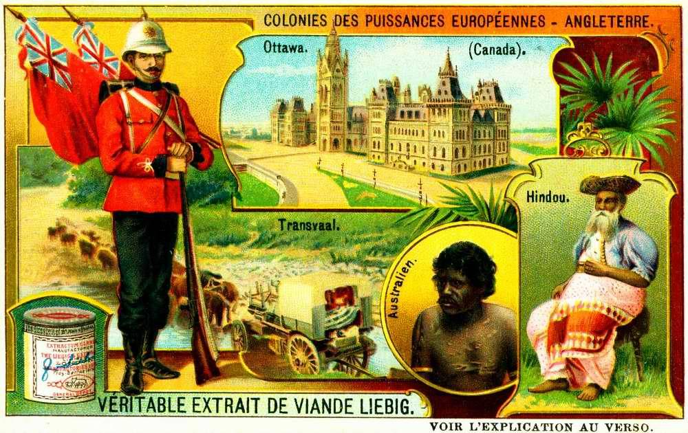 Колонии Великобритании - Канада, Индия, Австралия и Трансвааль (Южная Африка)