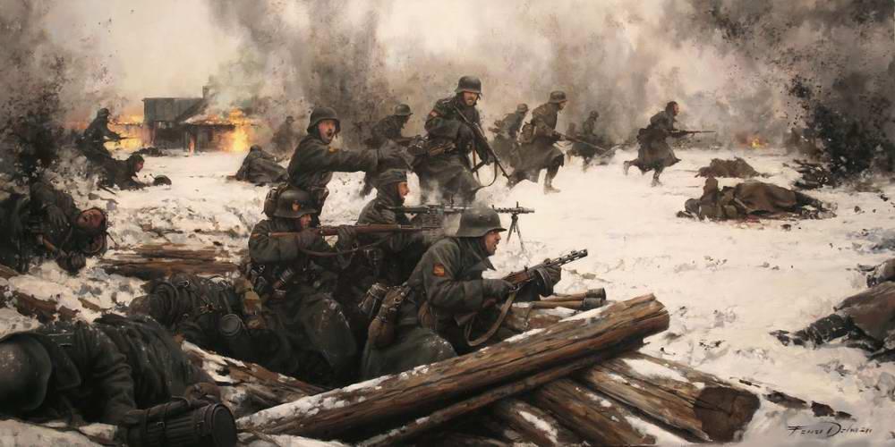 Испанская Голубая дивизия в бою под Ленинградом 1941 год