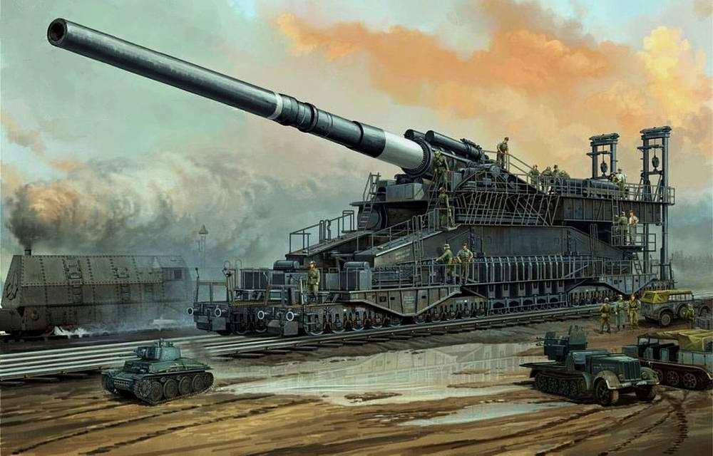 Немецкая сверхтяжелая пушка Дора под Севастополем  (Vincent Wai)