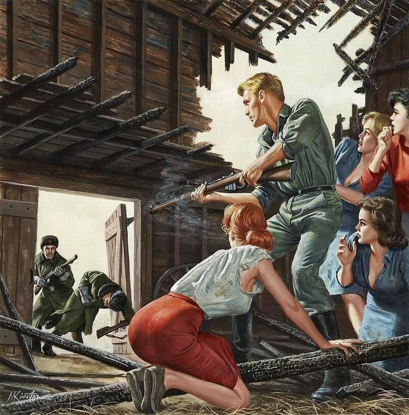 Рисунок художника Mort Kunstler (2)