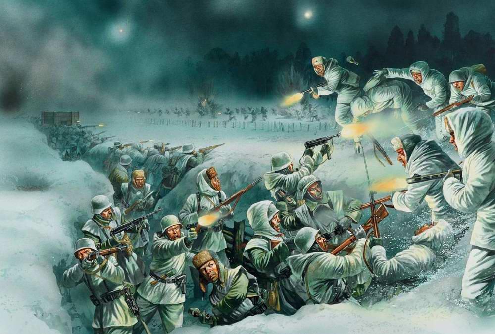 Ночная атака на немецкие позиции под Демьянском (Peter Dennis)