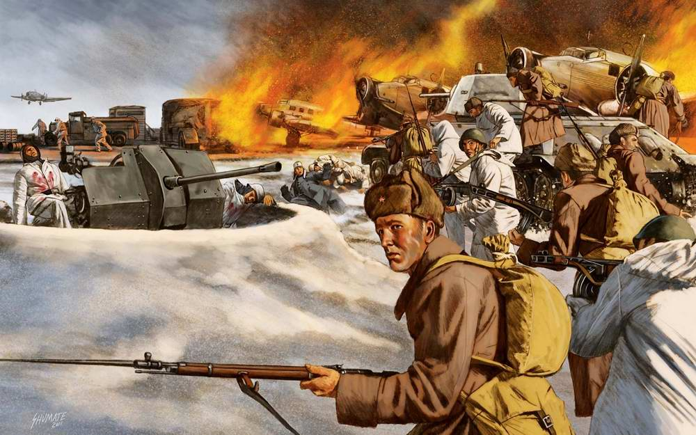 Захват немецкого аэродрома в Тацинской (Johnny Shumate)