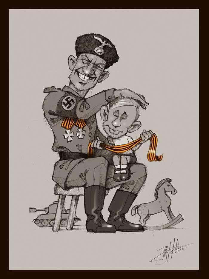 Власов и Путин. Оба фашисты - Художник Юрий Журавель