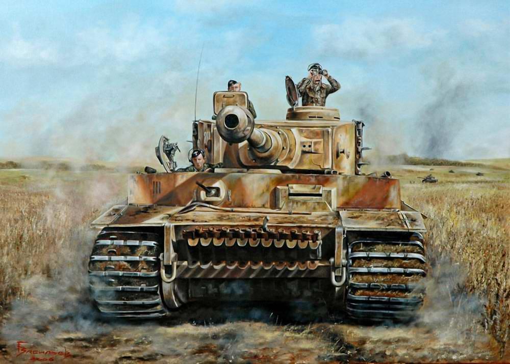 Перед Курским сражением - немецкий танк Тигр дивизии СС Мертвая голова (Глеб Васильев)