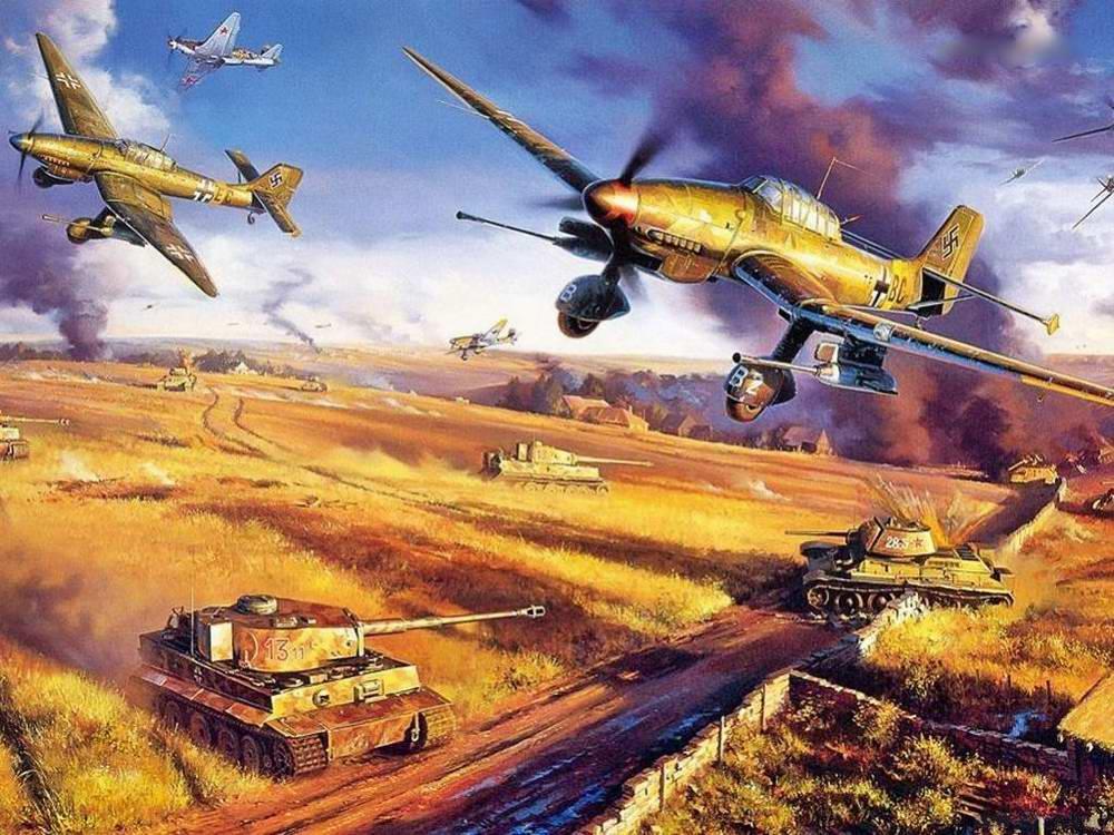 Курская дуга: над полем боя