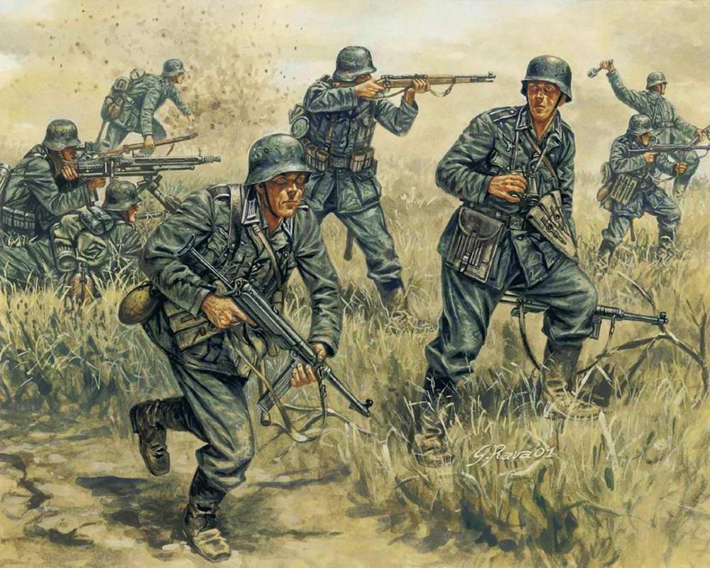 Немецкий Вермахт идет в наступление (Giuseppe Rava)