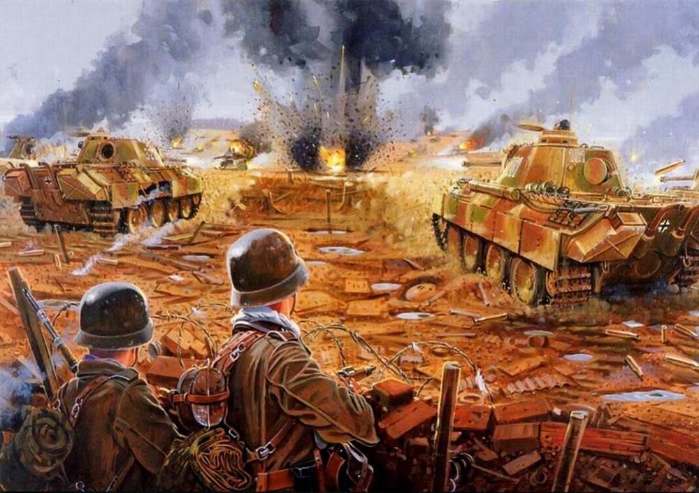 Атака немецких Пантер