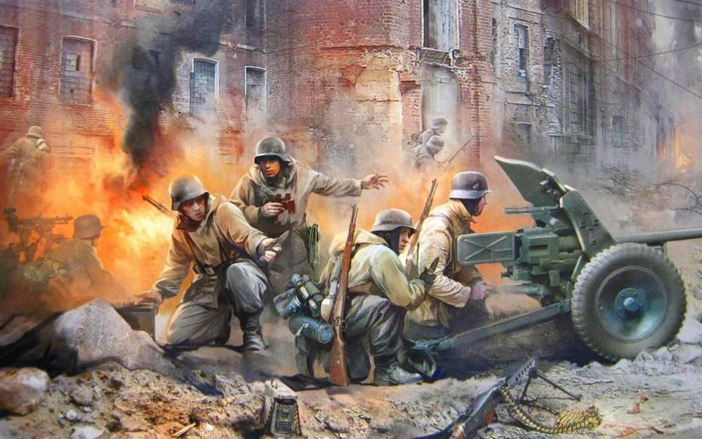 Немецкие артиллеристы с противотанковой пушкой ПАК-36 (Иван Хивренко)
