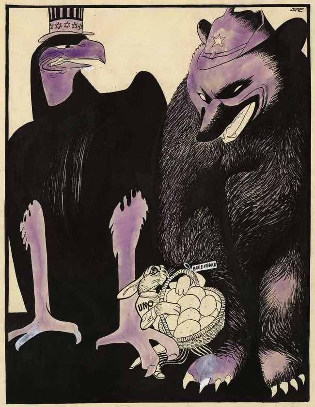 Американский орел, советский медведь и хрупкая Организация Объединенных Наций