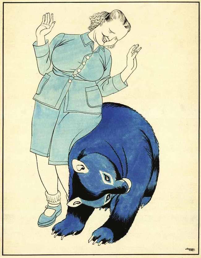 Советский медведь пытается заигрывать с Европой