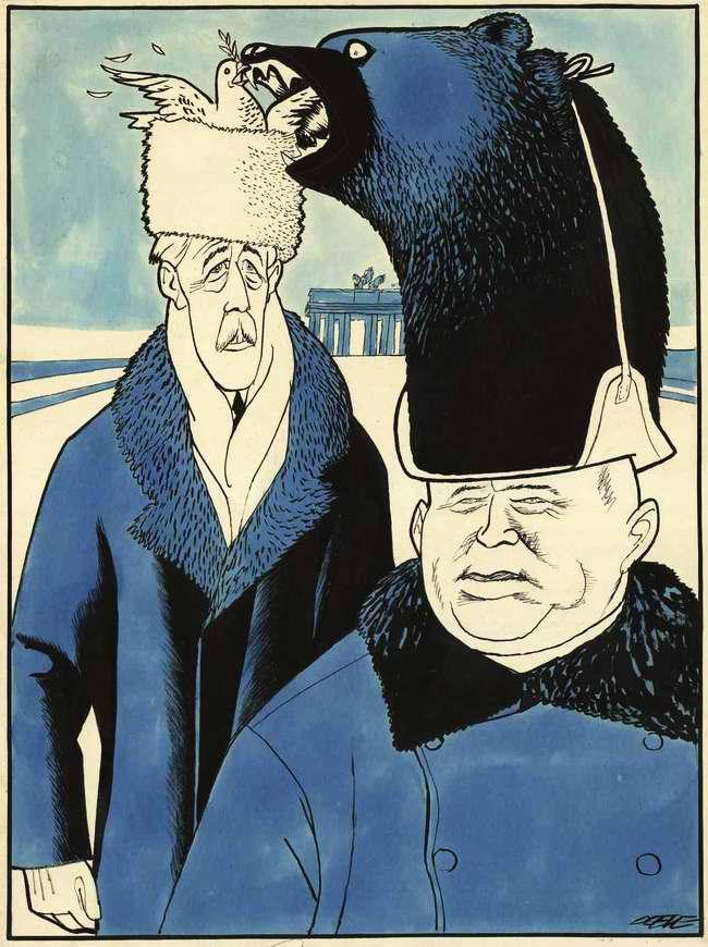 Советский медведь и голубь мира: премьер-министр Великобритании Гарольд Макмиллан в Москве