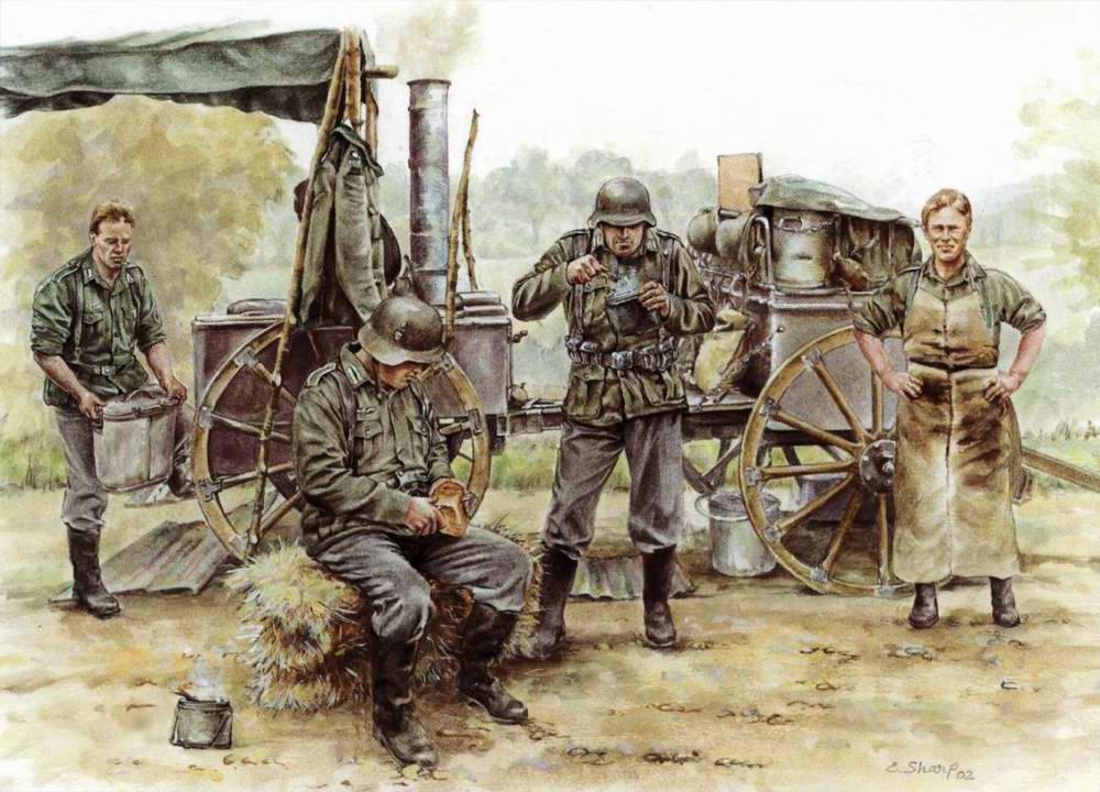 Солдатский обед на немецкой полевой кухне (Elizabeth Sharp)