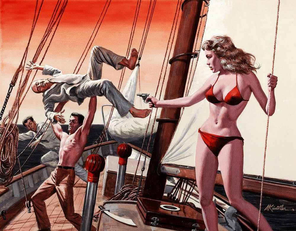 Рисунок художника Mort Kunstler (6)