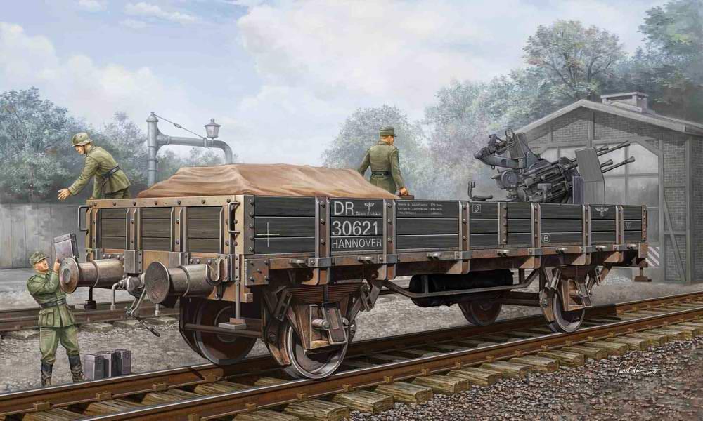 Погрузка боеприпасов на железнодорожную платформу с зенитным орудием (Vincent Wai)
