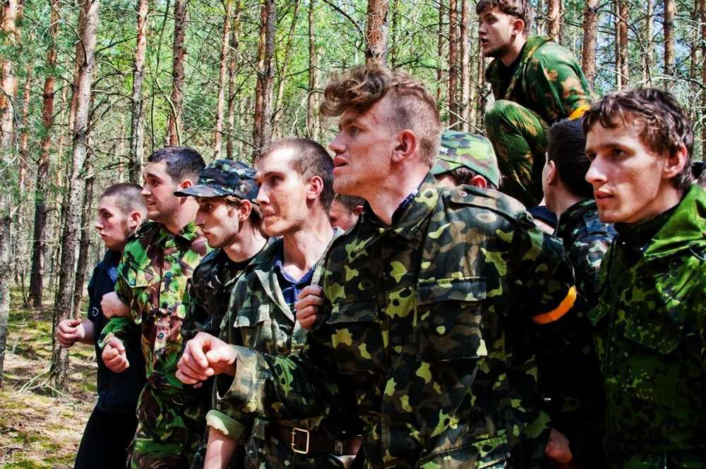 Участники украинской военно-патриотической игры Гурби - Антонивци
