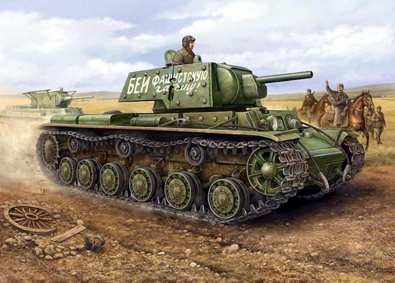 Танк КВ-1 - Бей фашистскую гадину (Vincent Wai)