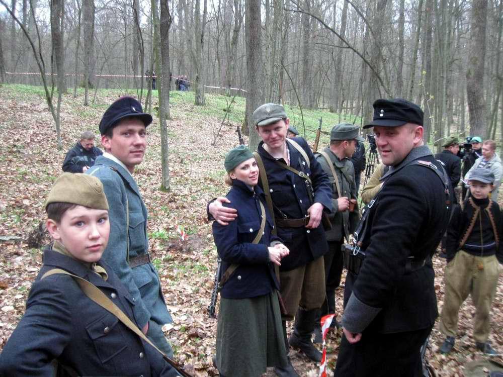 Участники реконструкционного боя между подразделениями НКВД и УПА в апреле 1944 года - Военно-патриотическая игра Гурби - Антонивци (1)