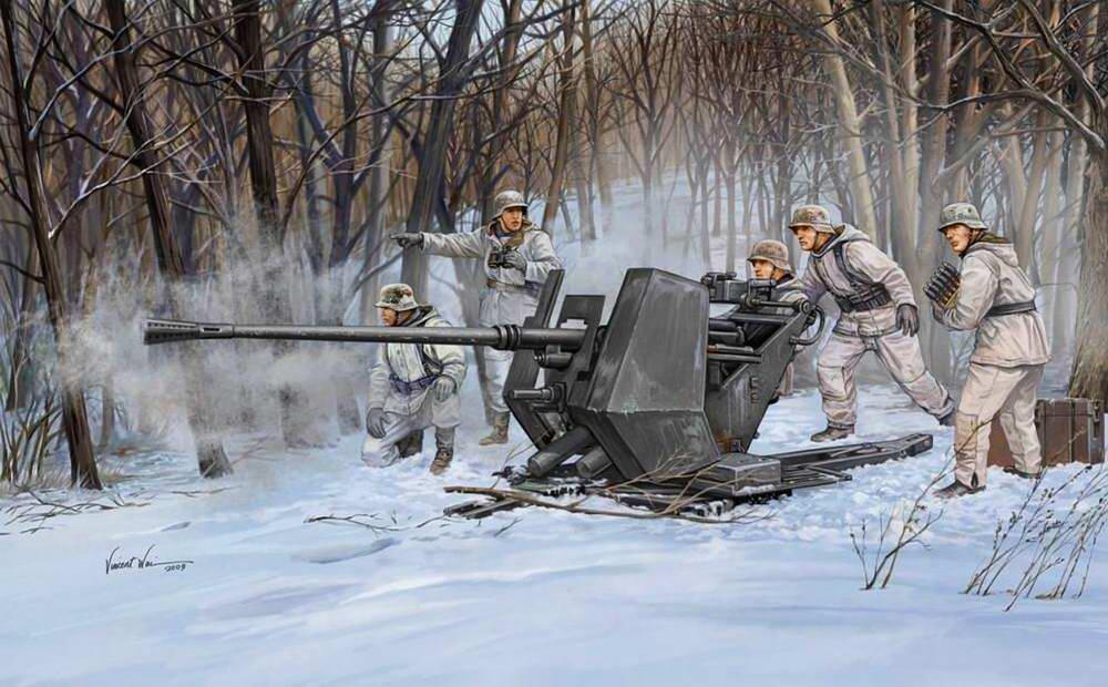 Немецкое зенитное орудие Флак-43 (Vincent Wai)