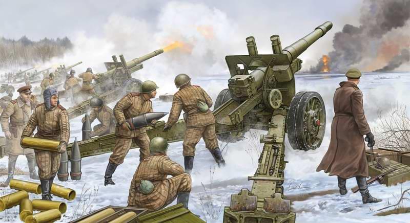 Советские тяжелые гаубицы М-1937 (Vincent Wai)
