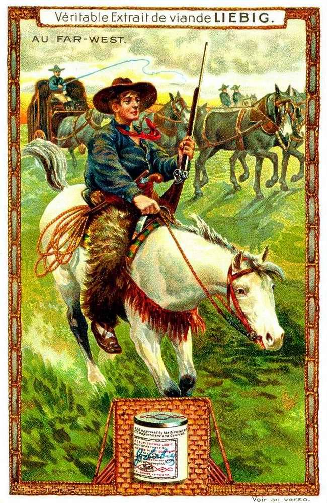 Ковбой на лошади - На Диком Западе