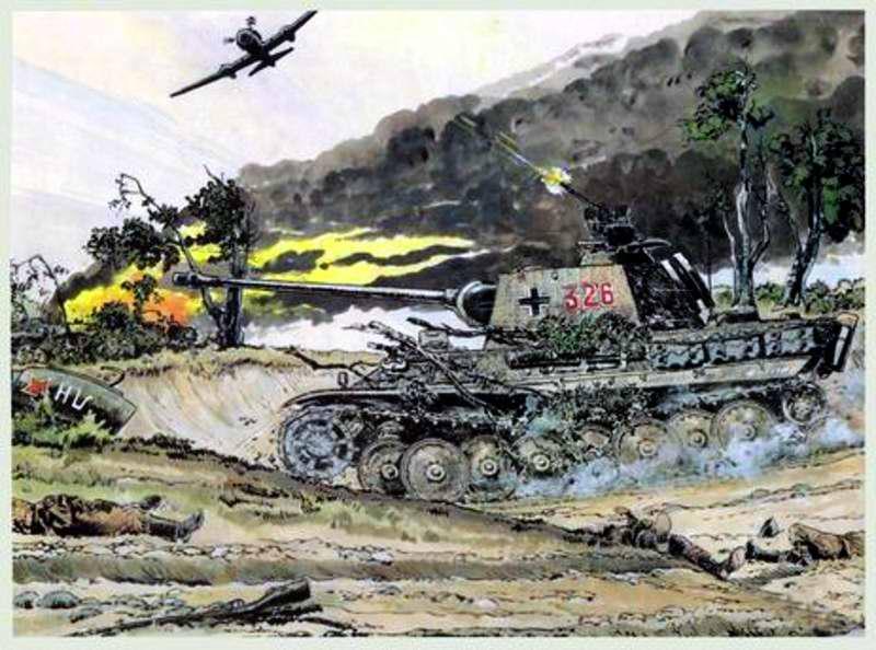 Из танка ведут огонь по самолету - Guy Mouminoux (Sajer)