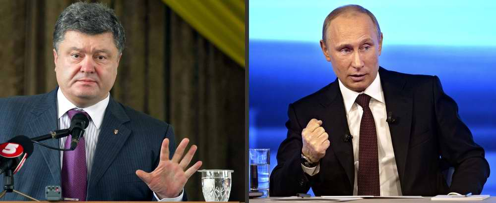 Путин и Порошенко - противостояние Украины и России