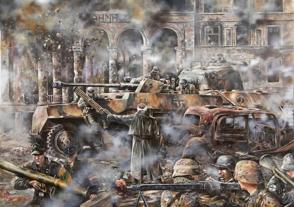Хаос у железнодорожной станции города Потсдама (Глеб Васильев)