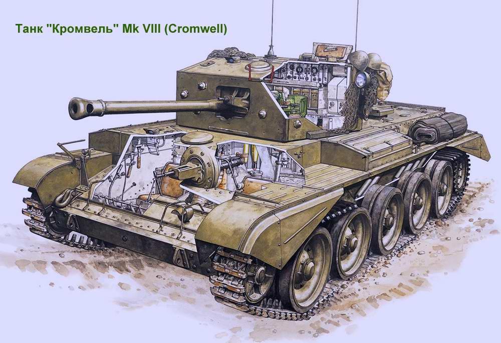 Средний крейсерский танк Cromwell Mk VIII / Кромвель (Великобритания)