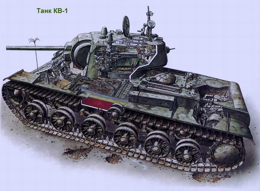 Тяжелый танк КВ-1 образца 1940 года (СССР)