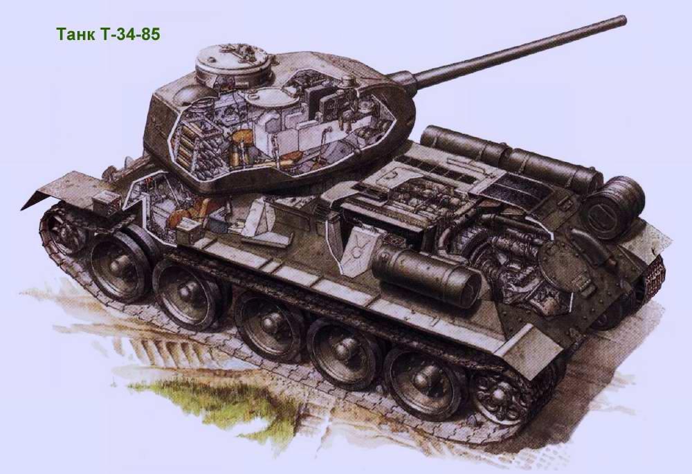 Средний танк Т-34-85 образца 1944 года (СССР)