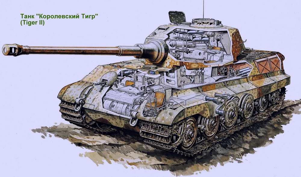 Тяжелый танк Panzerkampfwagen VI Ausf. B Tiger II / Королевский Тигр (Германия)