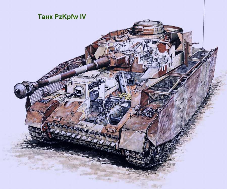 Средний танк Panzerkampfwagen IV (PzKpfw IV, Pz IV) (Германия)