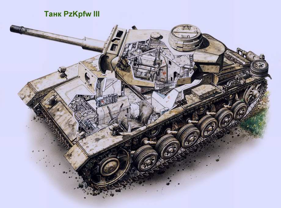 Средний танк Panzerkampfwagen III (PzKpfw III, Pz III) (Германия)