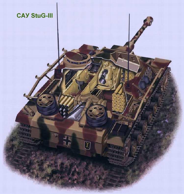 Самоходная артиллерийская установка (штурмовое орудие) Sturmgeschutz III (StuG III) Ausf.G (Германия