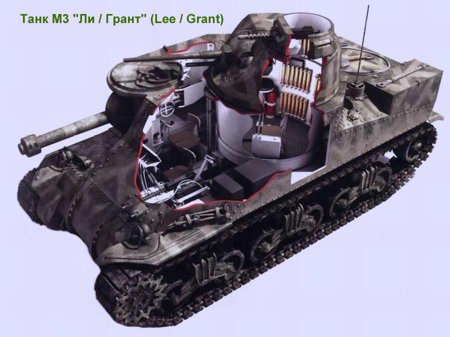 Средний танк M3 Lee (Grant) / Ли (Грант) (США)