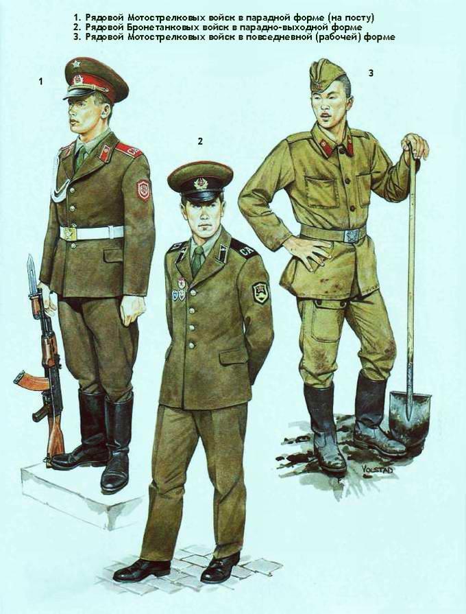 Советская армия 80 х годов 20 века