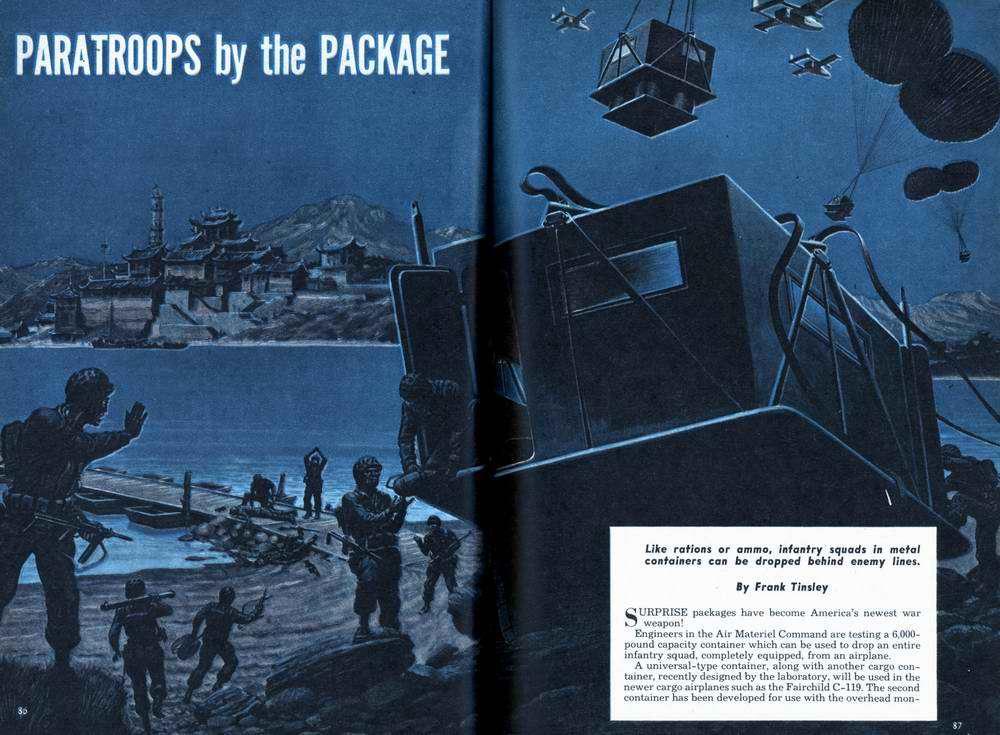 Парашютное десантирование войск в специальных контейнерах