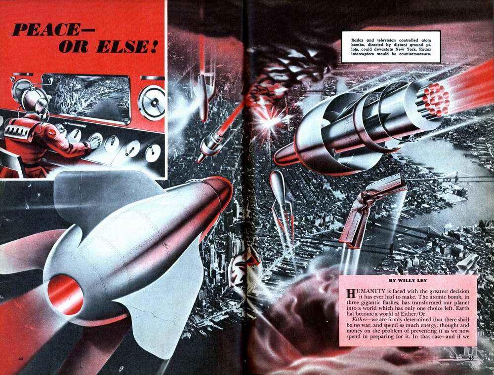Атомные бомбы и баллистические ракеты с дистанционным телевизионным управлением
