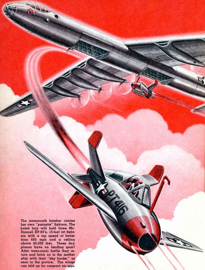 Атомный бомбардировщик в качестве носителя-доставщика малых самолетов для осуществления прицельного бомбометания