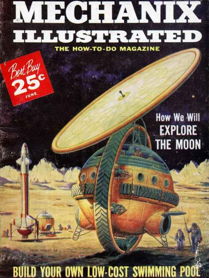Большой вездеход для обслуживания лунных ракетных баз