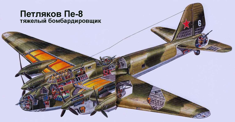 Пе-8 - тяжелый бомбардировщик, 1940 год (CCCP)