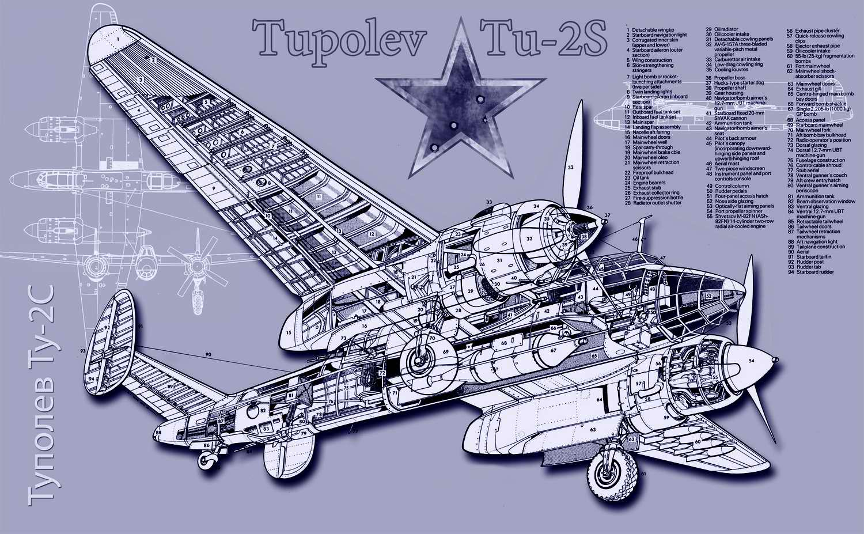 Ту-2С - дальний пикирующий бомбардировщик, 1942 год (CCCP)